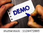 writing note showing  demo.... | Shutterstock . vector #1126472885
