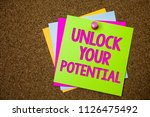 text sign showing unlock your... | Shutterstock . vector #1126475492