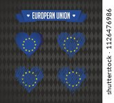 european union collection of... | Shutterstock .eps vector #1126476986