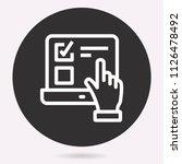 vector e learning education... | Shutterstock .eps vector #1126478492