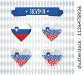 slovenia collection of four... | Shutterstock .eps vector #1126478936