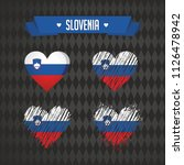 slovenia with love. design... | Shutterstock .eps vector #1126478942