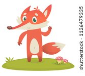 cute cartoon  fox character.... | Shutterstock .eps vector #1126479335