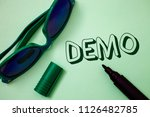 writing note showing  demo.... | Shutterstock . vector #1126482785