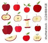 apple fruit organic fresh food... | Shutterstock .eps vector #1126486418