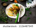 turkish  stuffed zucchini... | Shutterstock . vector #1126487345