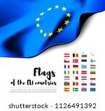flags of the countries of the... | Shutterstock .eps vector #1126491392