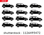 set of car silhouette  isolated ... | Shutterstock .eps vector #1126495472