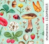 summer seamless pattern.... | Shutterstock . vector #1126496015