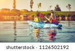 kayaking and canoeing with...   Shutterstock . vector #1126502192