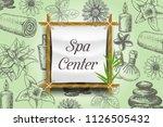 spa poster  banner template.... | Shutterstock .eps vector #1126505432