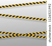 black and yellow caution lines... | Shutterstock .eps vector #1126521992
