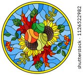 illustration in stained glass... | Shutterstock .eps vector #1126522982