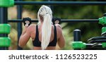 young athletic fitness woman...   Shutterstock . vector #1126523225