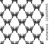 butterfly seamless pattern... | Shutterstock .eps vector #1126529945