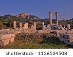 temple of artemis at sardes...   Shutterstock . vector #1126534508