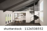 minimalist white and gray... | Shutterstock . vector #1126538552