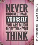 motivational and inspirational... | Shutterstock . vector #1126540148