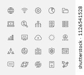 technology line icons flat... | Shutterstock .eps vector #1126541528