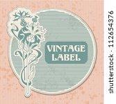 vintage label | Shutterstock .eps vector #112654376