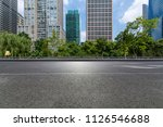 empty road with modern business ... | Shutterstock . vector #1126546688