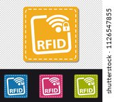 rfid buttons   four colorful... | Shutterstock .eps vector #1126547855