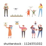 various examples where drones... | Shutterstock .eps vector #1126551032
