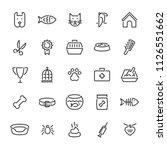 pet logo design template set.... | Shutterstock .eps vector #1126551662