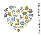 pet logo design template set.... | Shutterstock .eps vector #1126551686
