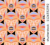 vector illustration. ethnic... | Shutterstock .eps vector #1126552592