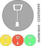 an icon set  a key in a circle... | Shutterstock .eps vector #1126556945