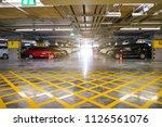 indoor parking lot building... | Shutterstock . vector #1126561076