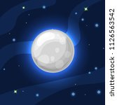 vector grey and blue moon in... | Shutterstock .eps vector #1126563542