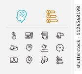 work icons set. organize...