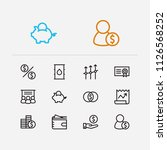 capital icons set. broker and...