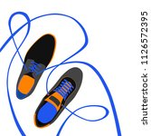 fashion poster of shoes vector | Shutterstock .eps vector #1126572395
