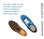 fashion shoes vector | Shutterstock .eps vector #1126572398