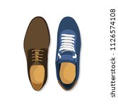 pair of man shoes | Shutterstock .eps vector #1126574108