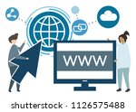 illustration of characters and...   Shutterstock .eps vector #1126575488