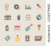 simple bar icons set | Shutterstock .eps vector #1126579682