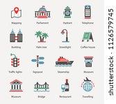 set of travel icons | Shutterstock .eps vector #1126579745