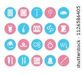 contraceptive method flat glyph ... | Shutterstock .eps vector #1126586405