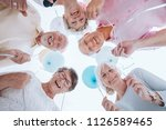 low angle of happy senior... | Shutterstock . vector #1126589465