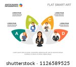 five colleagues team process... | Shutterstock .eps vector #1126589525