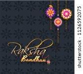 calligraphy text raksha bandhan ... | Shutterstock .eps vector #1126592075