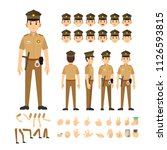 police man india character set. ... | Shutterstock .eps vector #1126593815