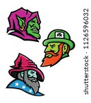 mascot icon illustration set of ... | Shutterstock .eps vector #1126596032