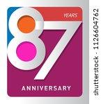 87 years old celebrating modern ... | Shutterstock .eps vector #1126604762