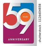 59 years old celebrating modern ... | Shutterstock .eps vector #1126604858