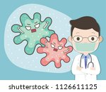 cute doctor with gawn suit... | Shutterstock .eps vector #1126611125